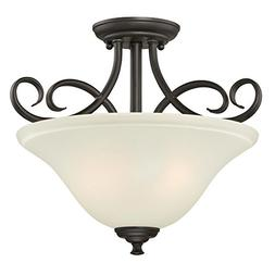 Westinghouse 6306500 Dunmore Two-Light Indoor Semi-Flush, Oi