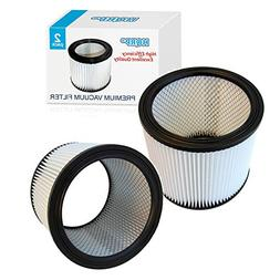 HQRP Cartridge Filter 2-Pack for Shop-Vac 90350 90333 Vacuum