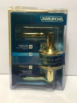 Schlage F40VFLA605 Bed/Bath Flair Lever With Privacy Lock -