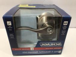 Schlage F51VACC619CAM Satin Nickel Keyed Entry Door Knob Lev