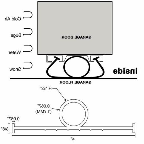 3/8 Inch T-End Seal Weatherproofing Threshold