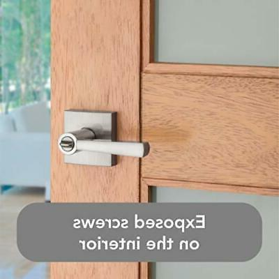 Baldwin Lever Garage or Office Door Satin